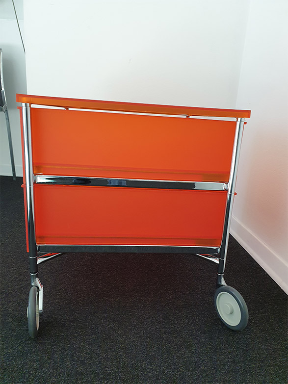 Mobil 2 cassetti con ruote, Kartell - Deesup