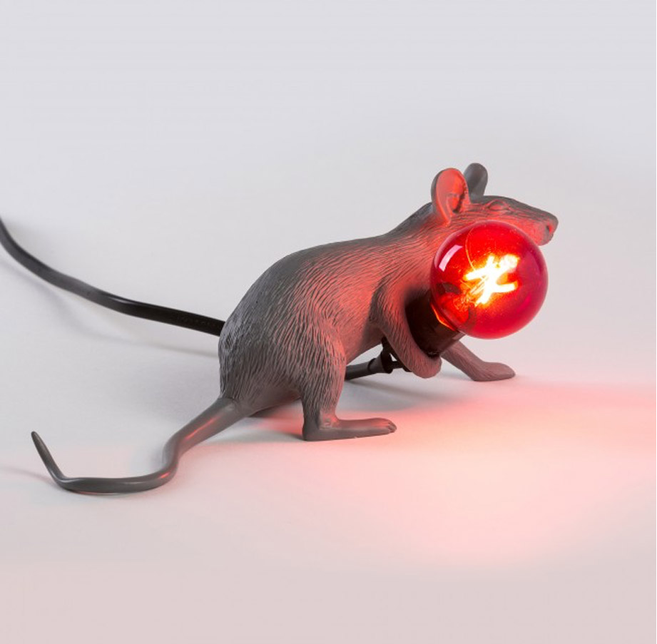 Mouse Lamp Lie Down Grey, Seletti - Deesup