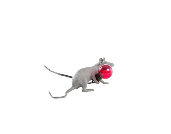 Mouse Lamp Lie Down Grey, Seletti