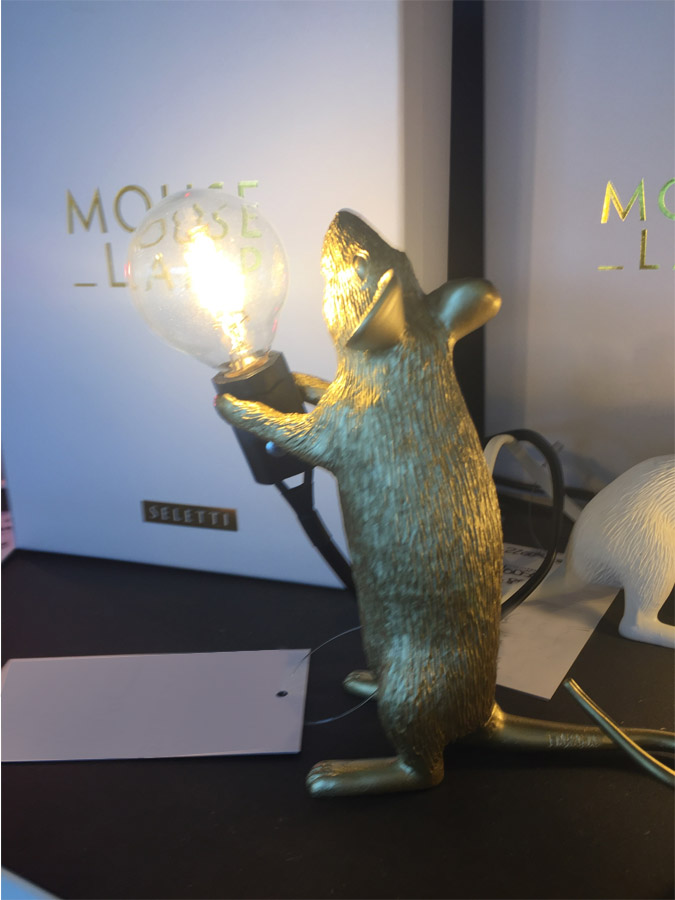 Mouse Lamp Gold Step, Seletti - Deesup