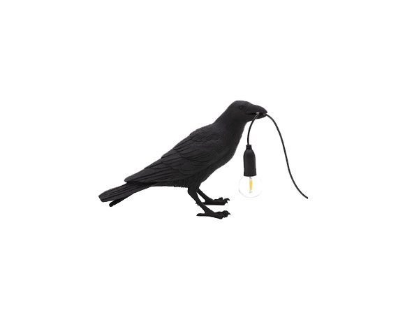 Bird Lamp Black Waiting, Seletti