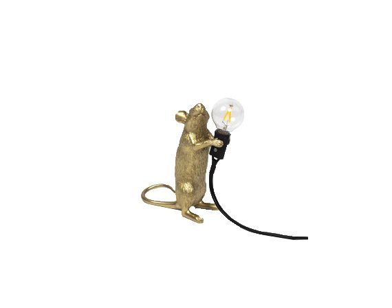 Mouse Lamp Gold (Step), Seletti